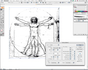 border=0 />Live tracing means you can edit the tracing parameters at any time to change the result of the vectorization. There are a number of presets that you can select depending on the type of tracing result you want. If you are tracing a full-colour photo then you can choose Photo Low Fidelity or Photo High Fidelity for instance. For pencil sketches you can choose Hand Drawn Sketch to have Live Trace produce a clean vector version of your scruffy pencil rendering – great for quickly utilizing that flash of inspiration you scribbled on the back of a napkin in the pub at lunchtime. Other options include Grayscale, Comic Art, Technical Illustration and Black and White Logo. There's a detailed options dialog that you can open to create custom tracing settings where you can adjust pre-blurring, and resizing of the image prior to tracing and then save your settings as a new preset. </p> <p> <div class=floatedimage><img src=