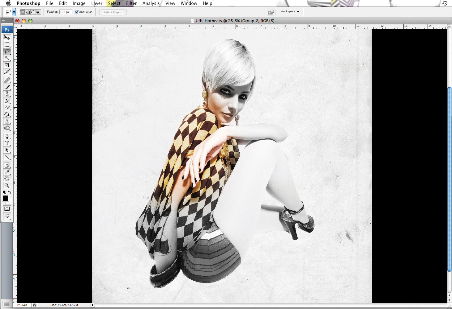 Photoshop tutorial: Blend a photo with vectors and smudges