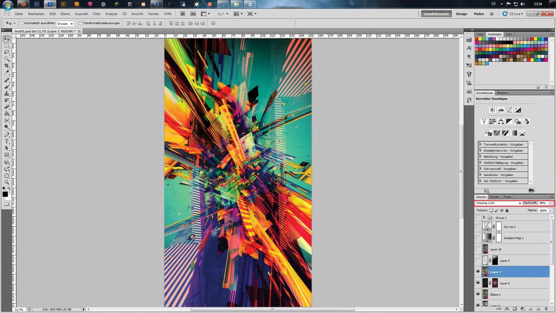 Maxon Cinema 4d Tutorial Use 3d To Create Colourful Abstract Art Digital Arts