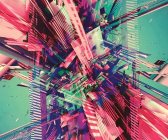 Use 3D to create colourful abstract art