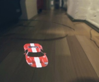 Using projection mapping to film the world's tiniest police chase