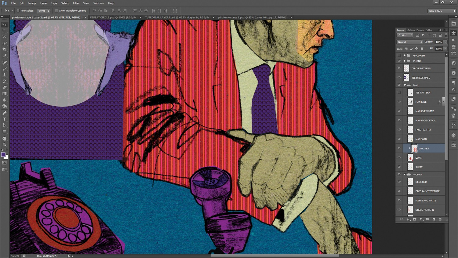 Photoshop tutorial: How to add texture to hand-drawn