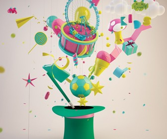 Maxon Cinema 4D tutorial: Give a 3D Scene a bubblegum shine