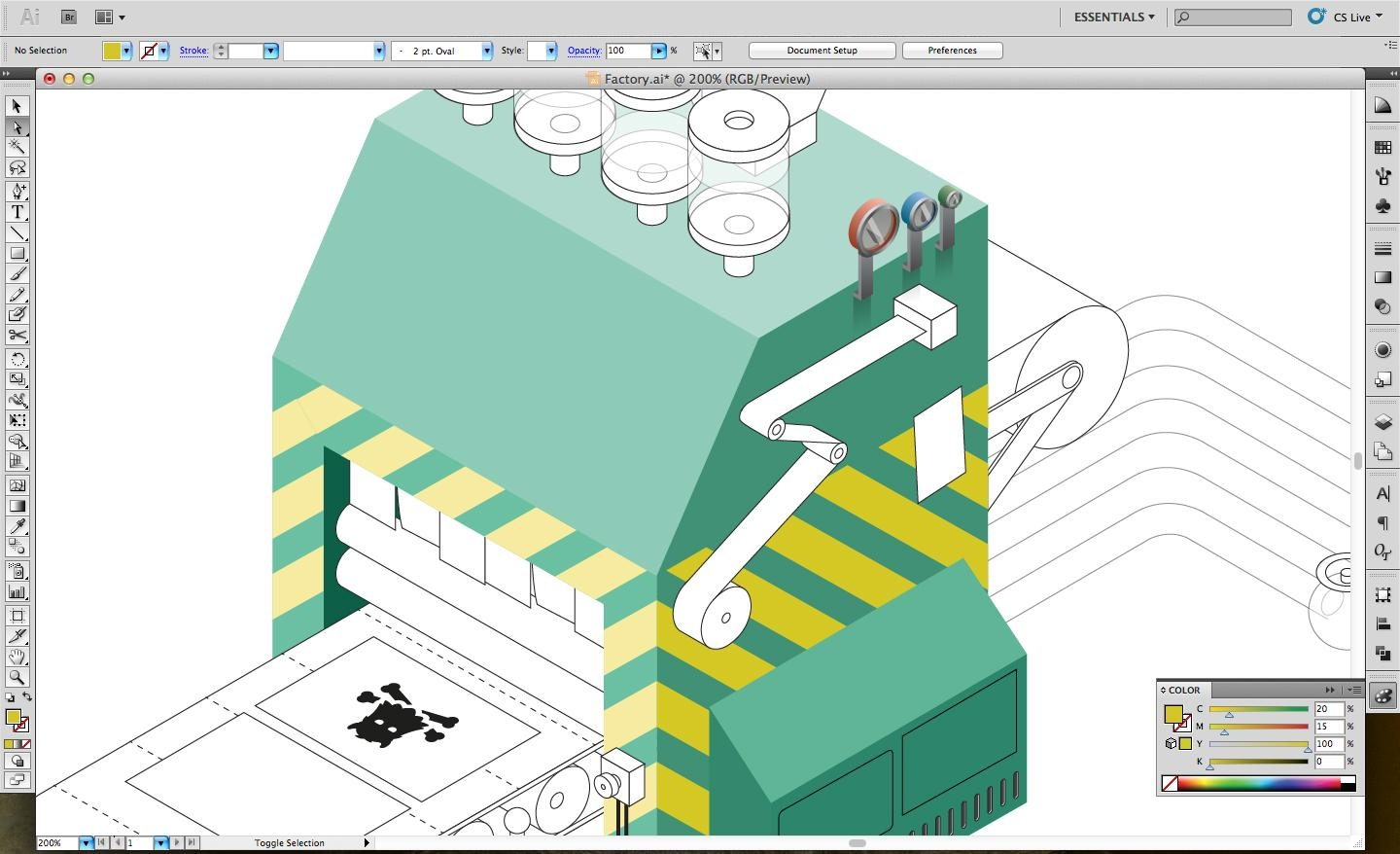 Adobe Illustrator tutorial: Design an isometric infographic