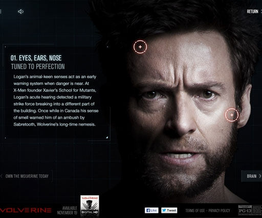 See beneath The Wolverine's skin in new tablet-optimised interactive website