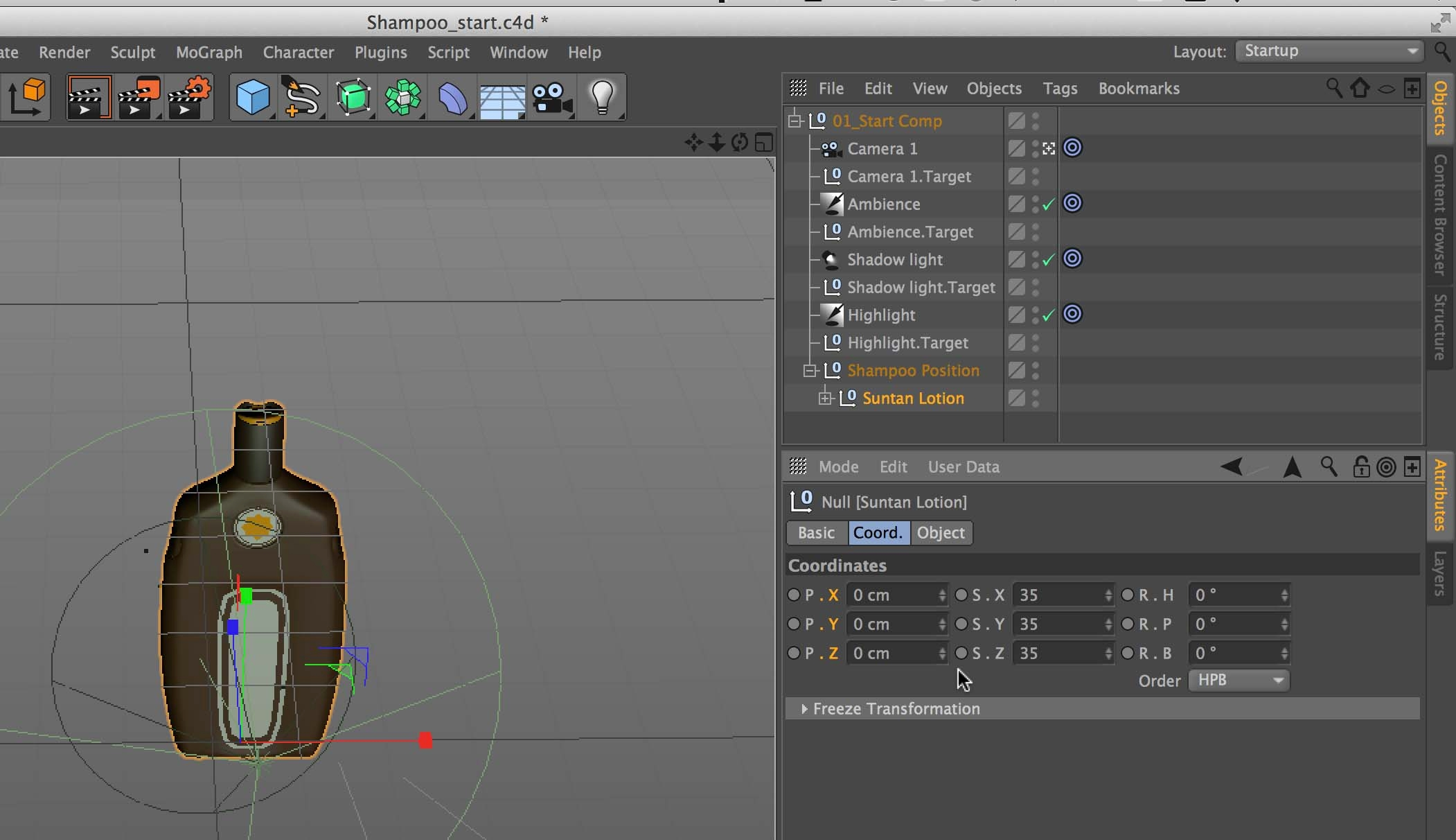 Add a 3D object to a comp in After Effects using CineWave and Cinema