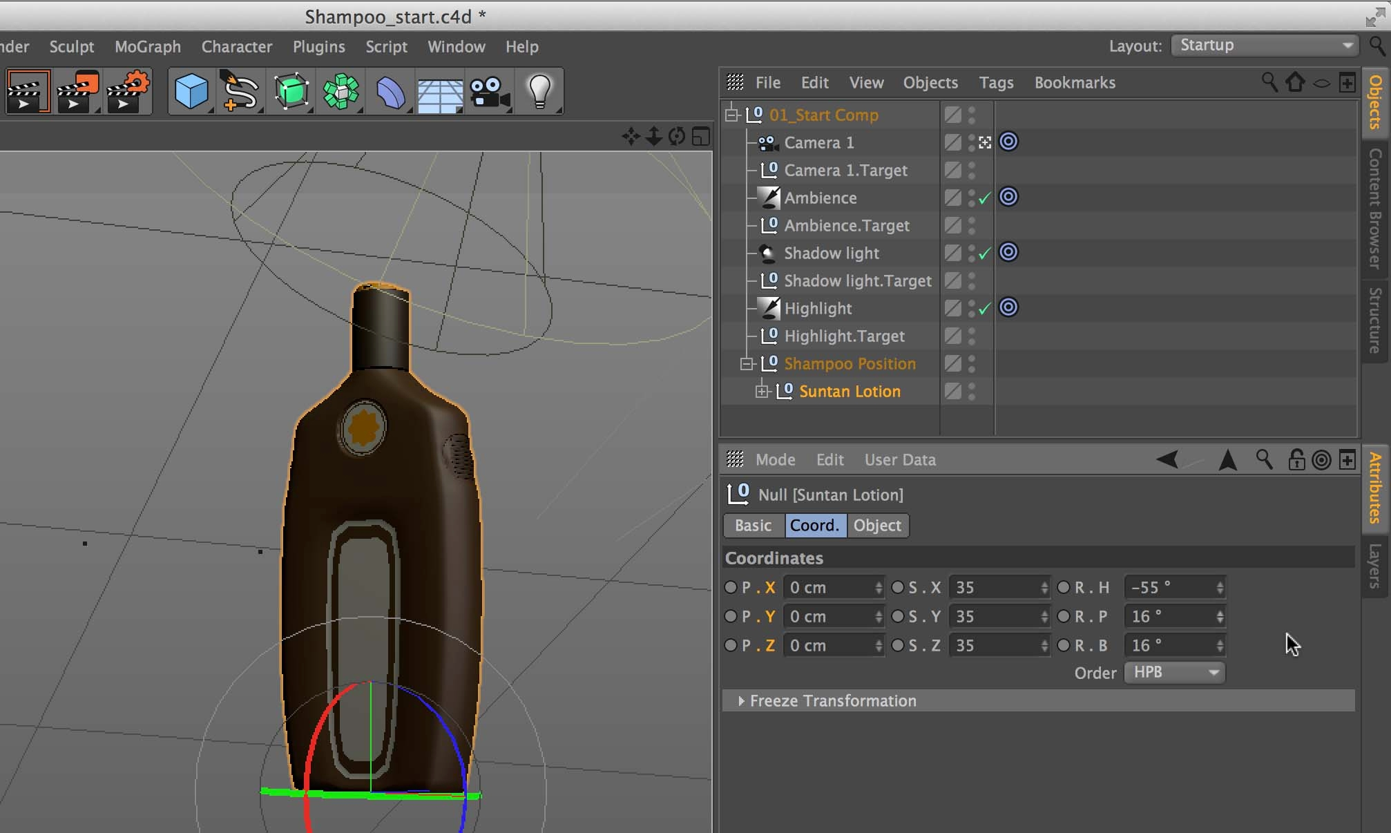 Add a 3D object to a comp in After Effects using CineWave