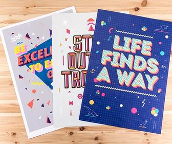 Posters frame profound quotes from classic 80s movies