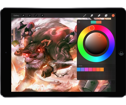 Procreate 2.1 'Fire' offers new colour tools and support for Paper and Pencil iPad styluses