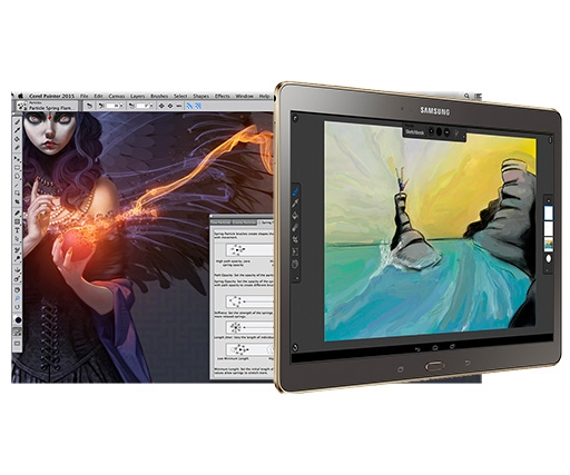 Corel Painter 2015 digital painting software released with Painter Mobile tablet app