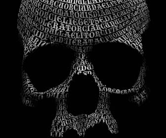 Create a skull out of type