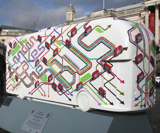 How Rod Hunt's artwork ended up on a bus in Trafalgar Square