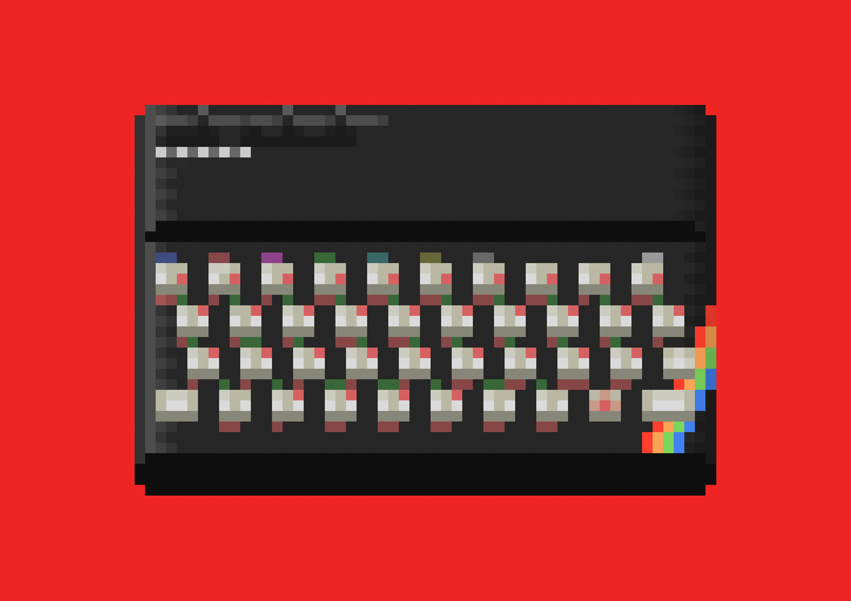 Pixel art of 80s consoles & computers: see Walter Newton's