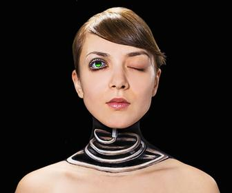 Hikaru Cho's stunning body-paint optical illusions