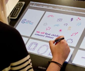 How SomeOne is using the Wacom Cintiq 27QHD to create art and designs for the likes of Cancer Research UK