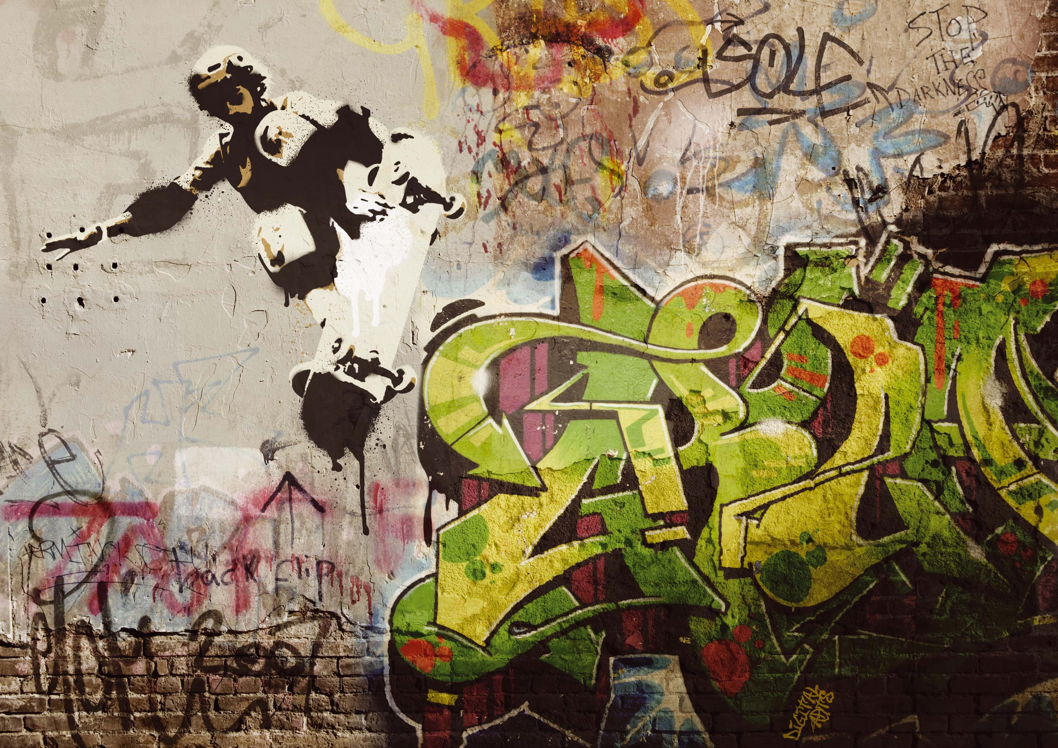 Design your own graffiti text effect photoshop tutorial.