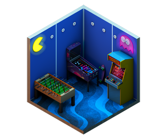 Model arcade machines in Cinema 4D with pinball, table football and Donkey Kong Jr