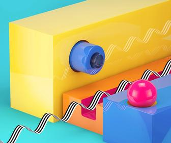 These shiny abstract 3D works will brighten up your day