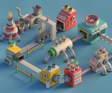 Cute, colourful Mini Machines look like they're about to build something magical