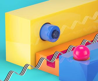 Create bright, shiny textures in Cinema 4D