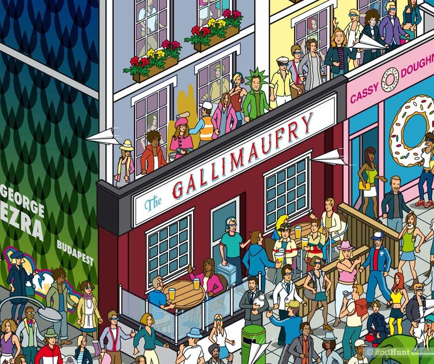 Where's Ezra? Play Rod Hunt's 'find the singer' game for Columbia Records' George Ezra