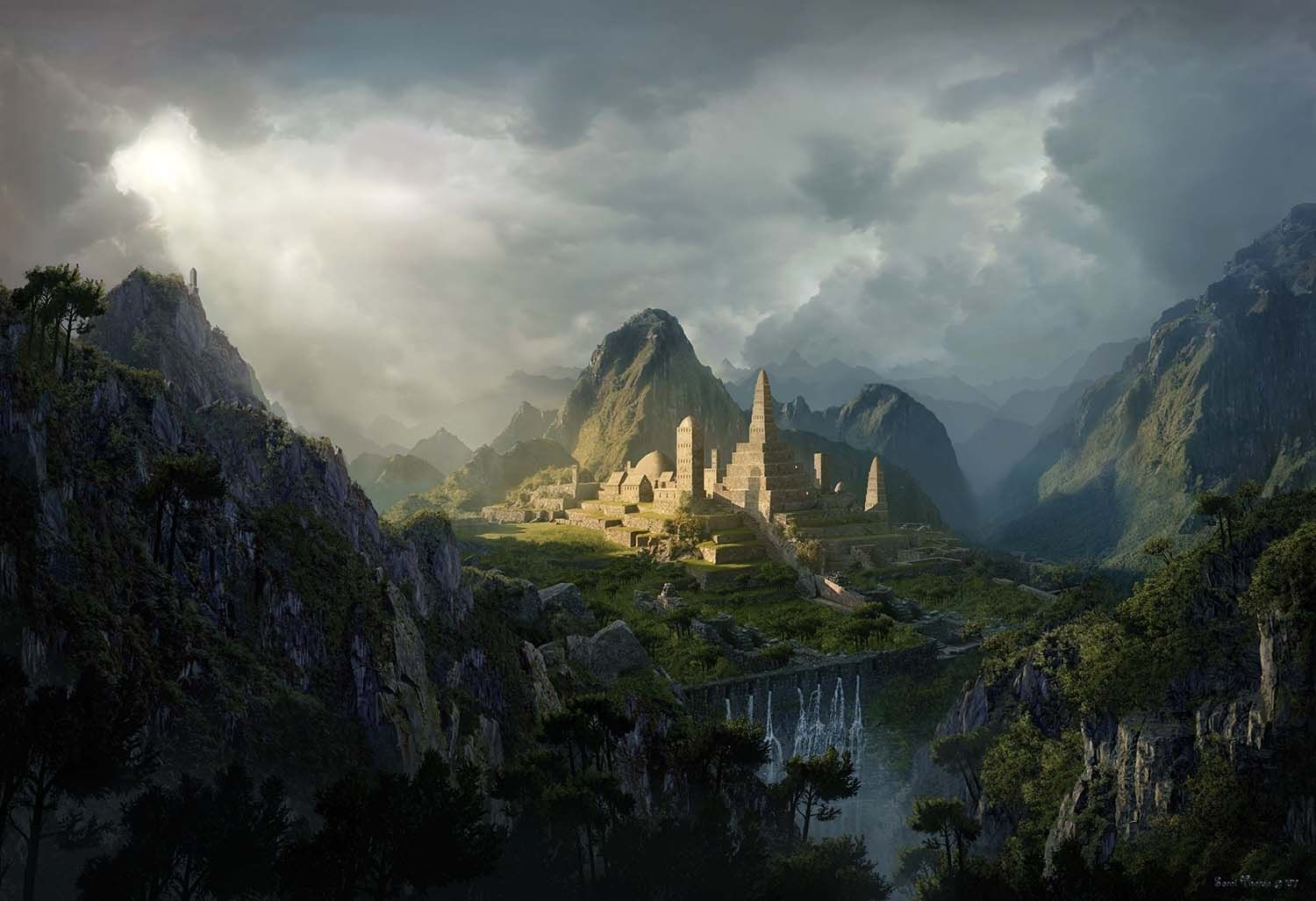 Photoshop Tutorial How To Create A Matte Painting In Photoshop Digital Arts