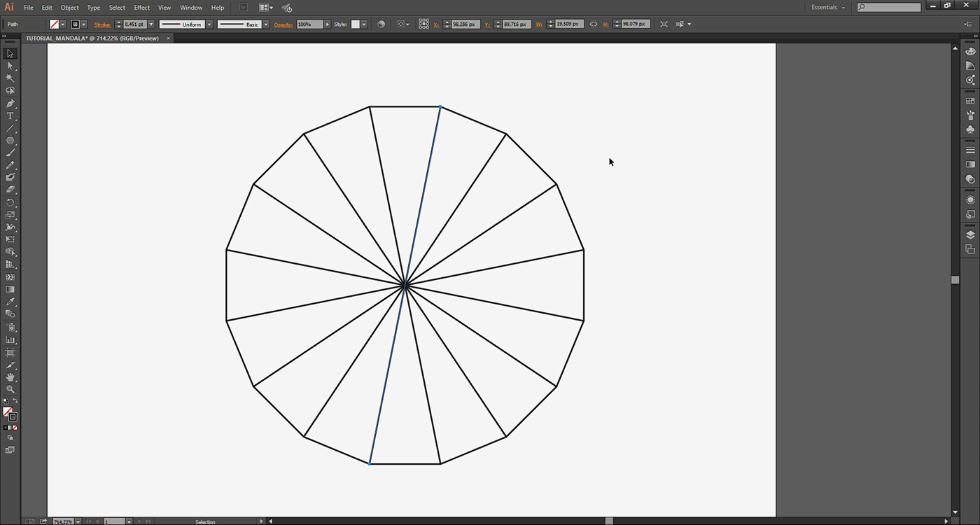 Adobe Illustrator tutorial: How to draw a mandala in Illustrator