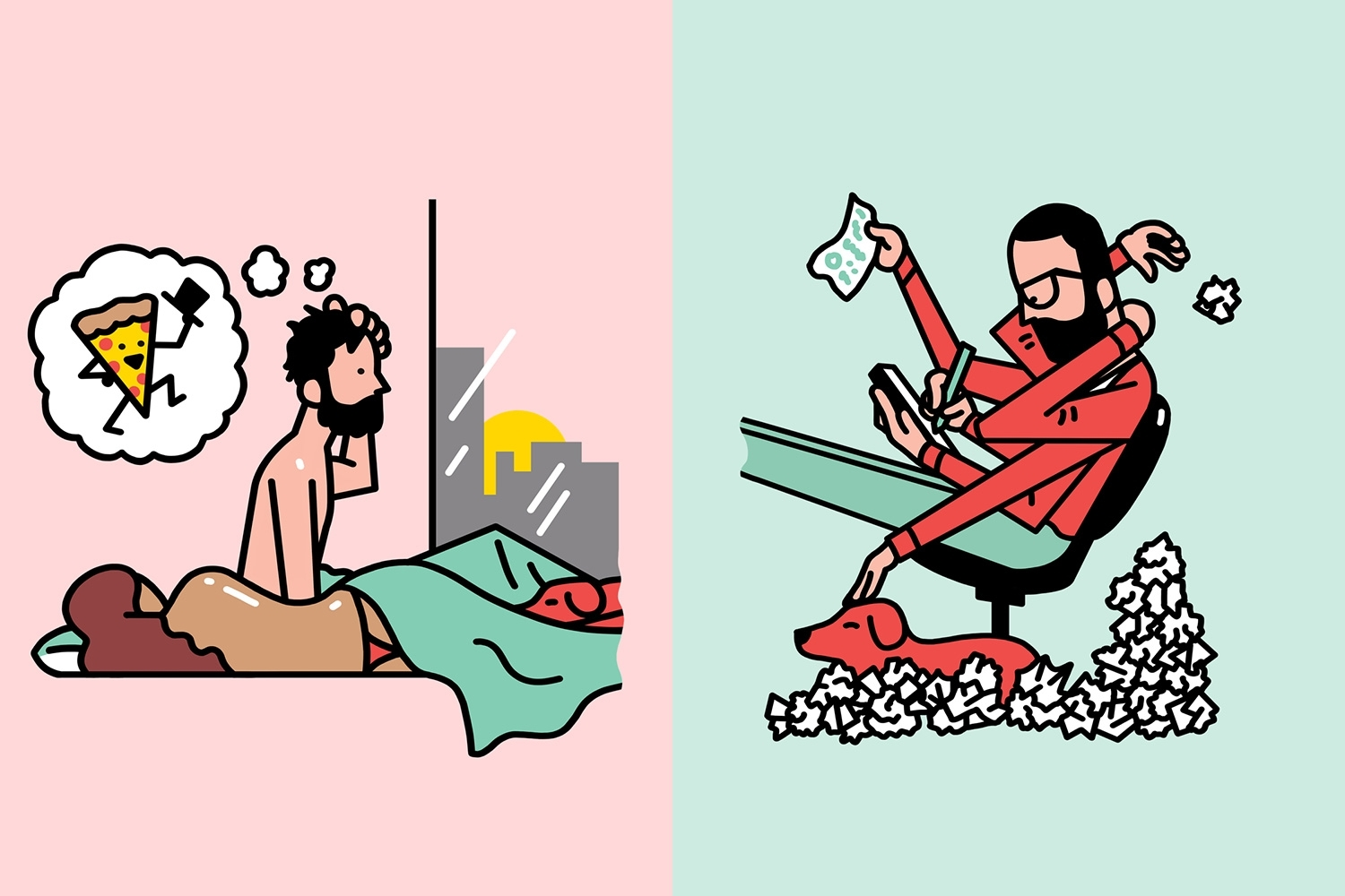 The 8 daily habits of designers and artists, illustrated by Sam Island -  Digital Arts