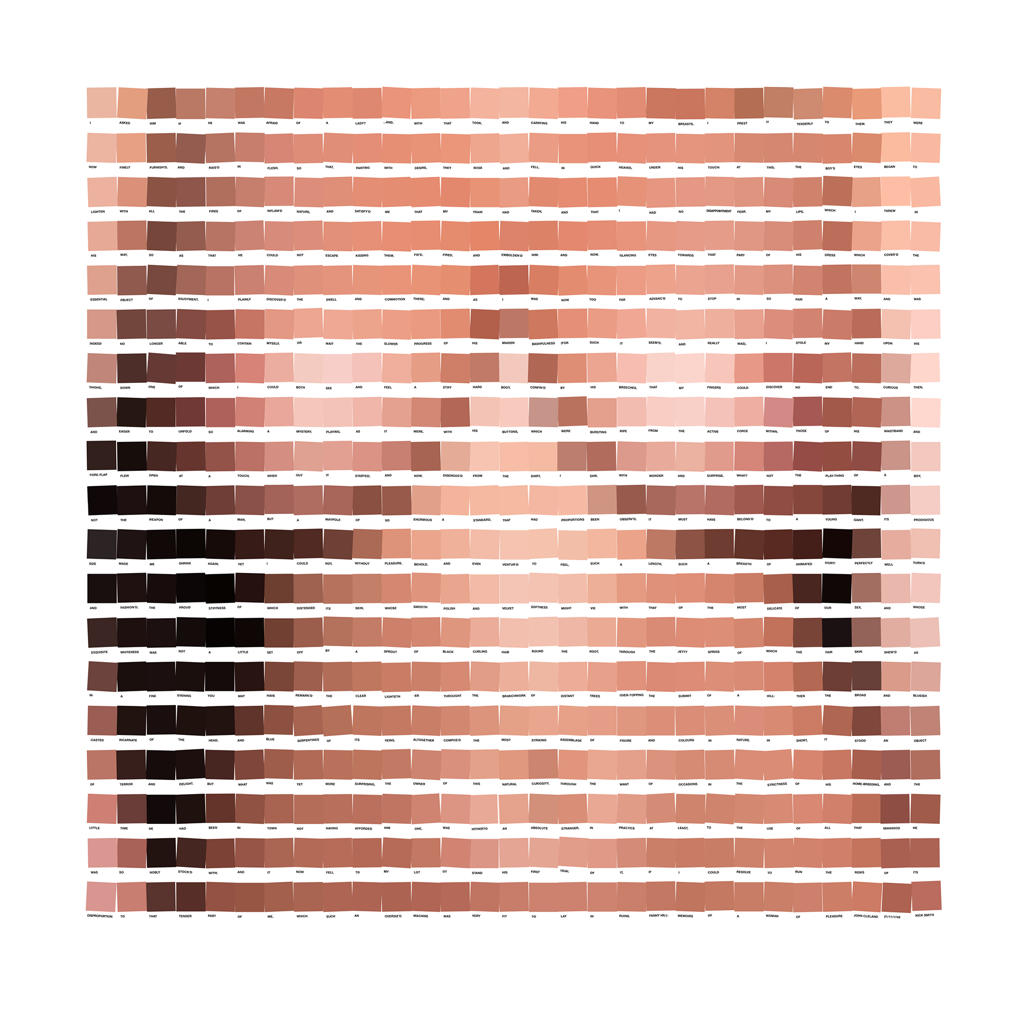 Pixel Art Made From Pantone Like Colour Chips Mixes