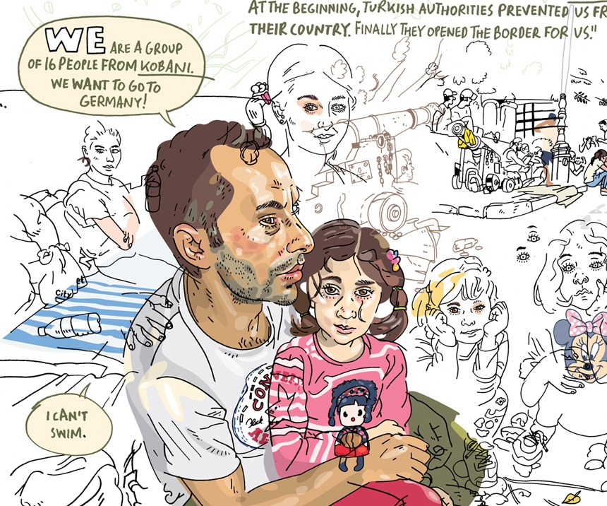 These Heartbreaking Illustrations Tell the True Stories of Syrian Refugees