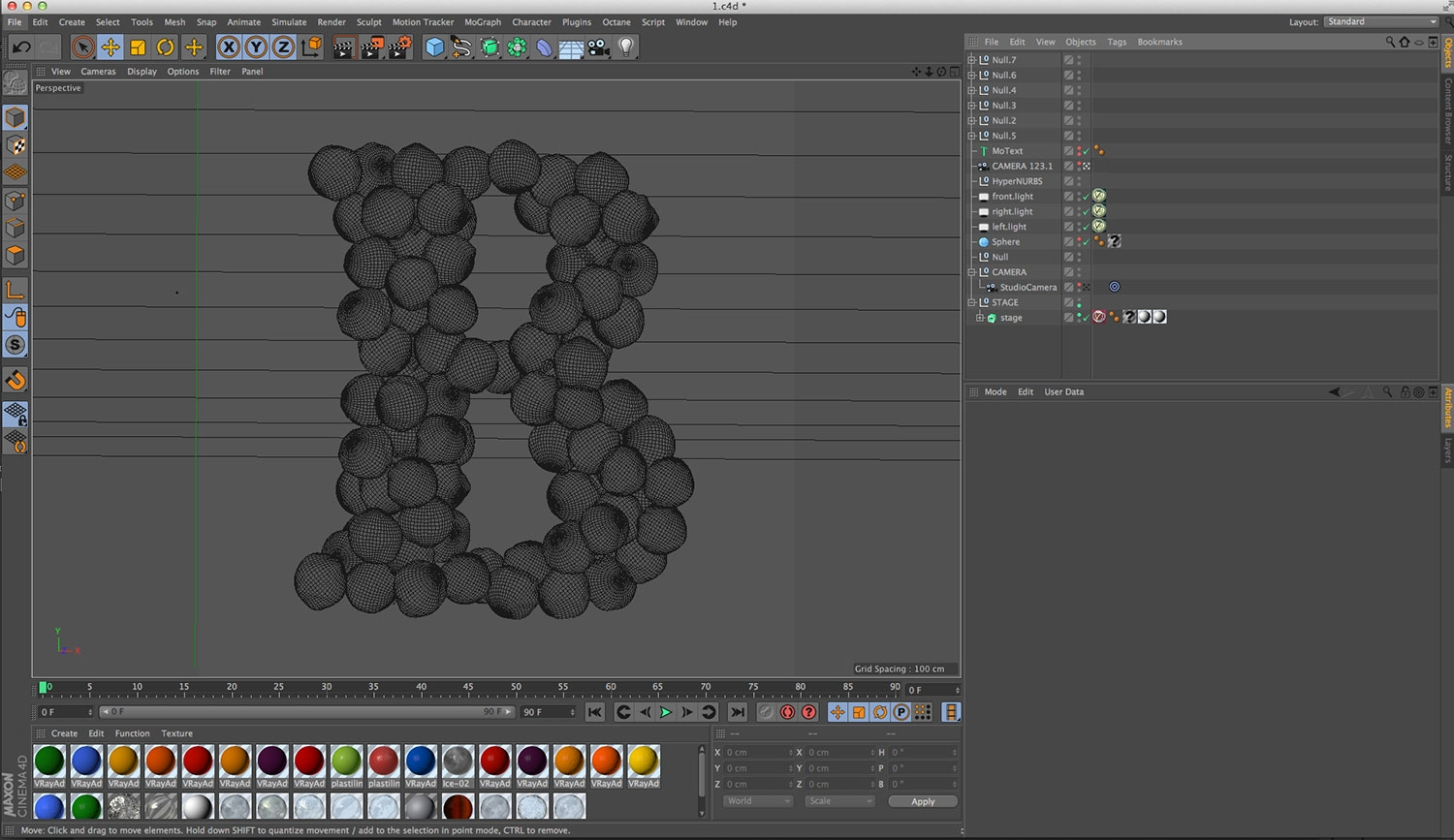 Maxon Cinema 4D tutorial: Create 3D type formed of