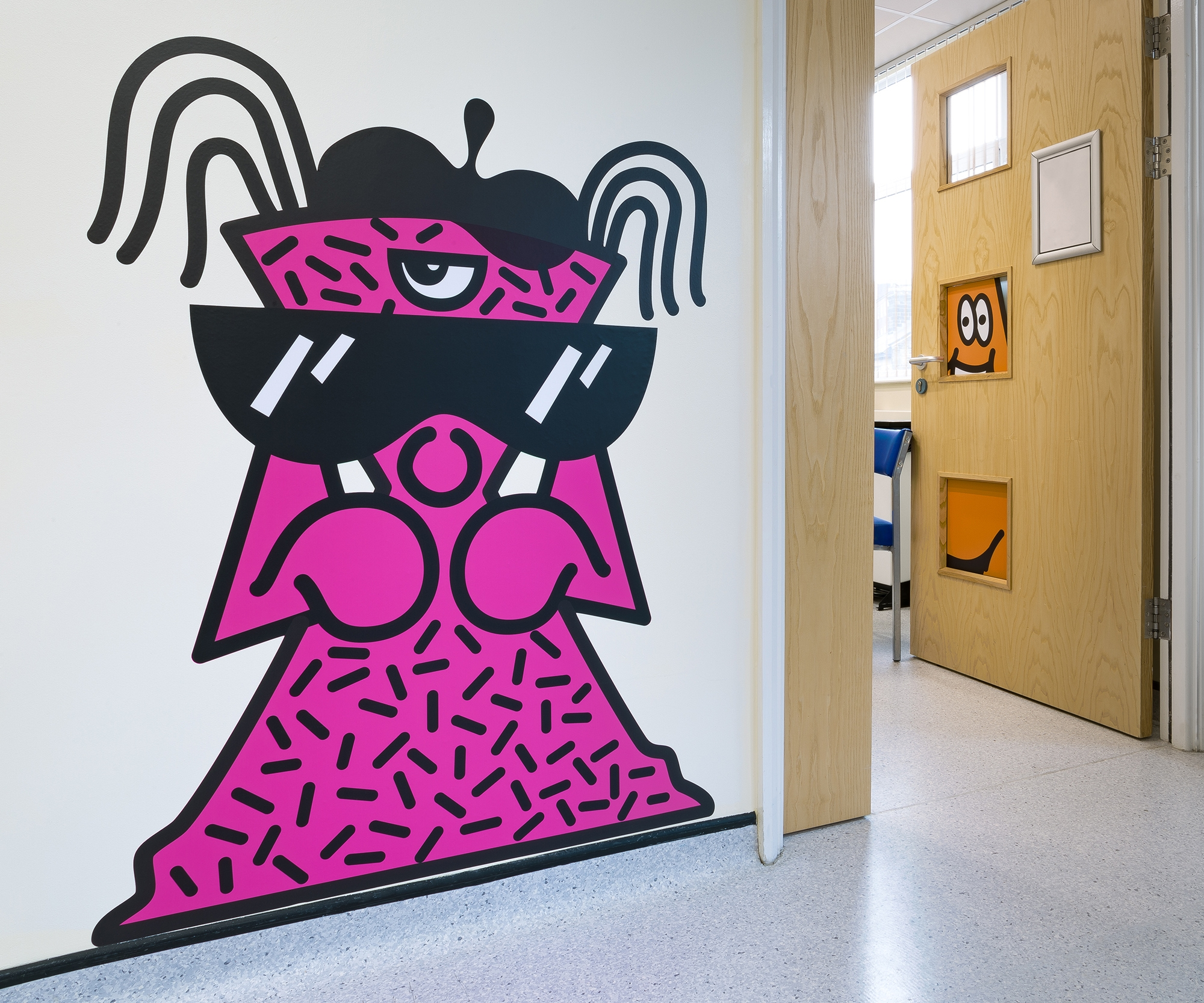 This Illustrator Duo Has Created a Giant Hide-&-Seek Game at a Children's Hospital