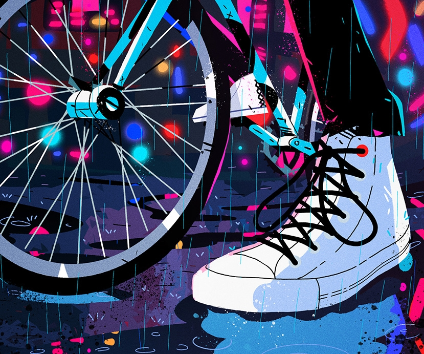 These energetic GIFs and animations showcase Converse's reinvented classic shoe