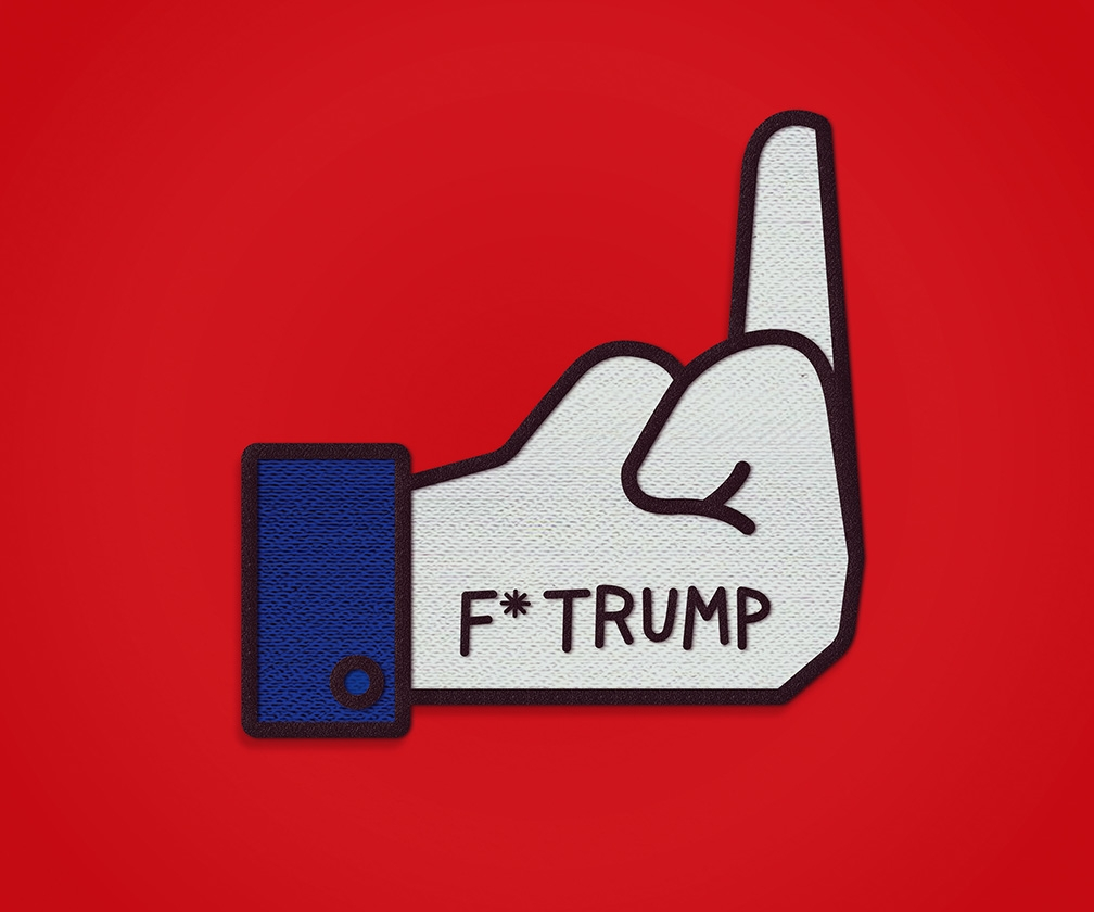 Sagmeister & Walsh's anti-Trump pins and badges are brutal
