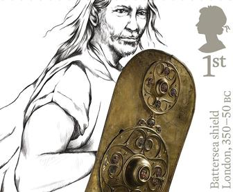 Prehistoric Britain is laid out in these beautiful Royal Mail stamp illustrations