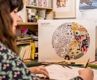 Wacom's amazing new tablet lets illustrator Sandra Dieckmann draw on paper and on-screen at the same time