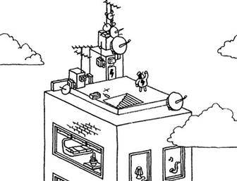 Illustrator Sylvain Tegroeg created thousands of intricate line drawings for the mobile game Hidden Folks