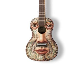 30 iconic UK artists beautifully paint ukuleles to raise money for charity