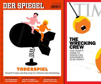 Illustrator Edel Rodriguez on creating those famous Donald Trump magazine cover artworks for Der Spiegel and Time