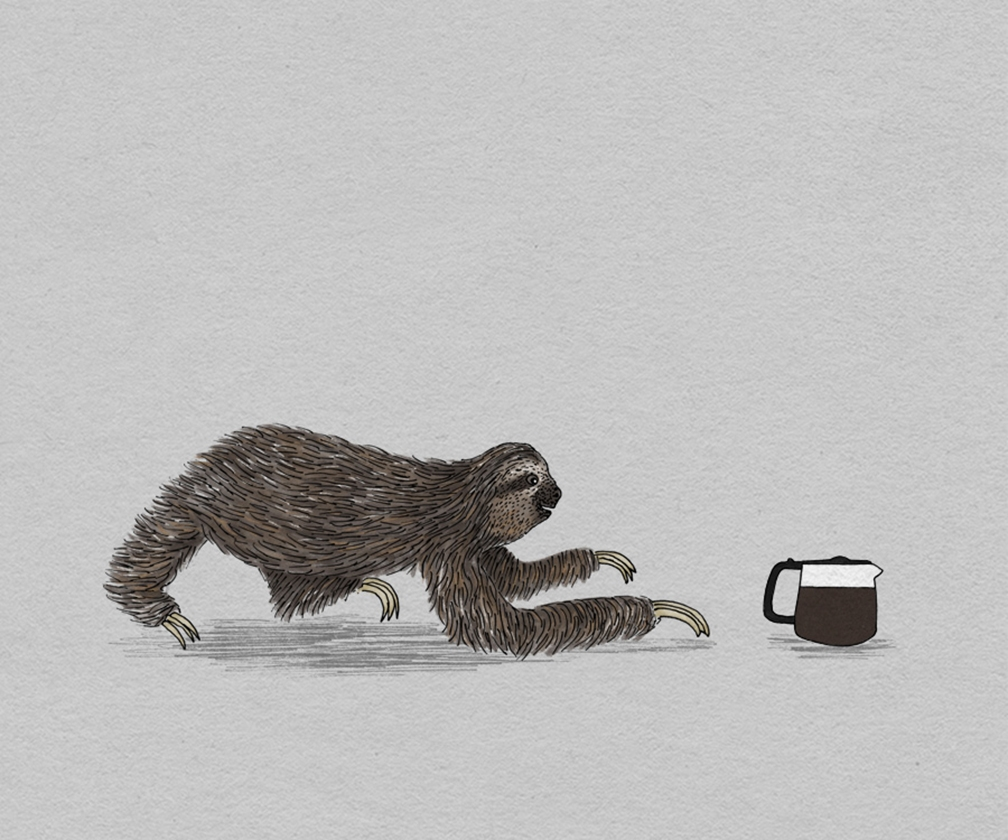 These animal illustrations accurately express our Monday Blues and Friday Feels