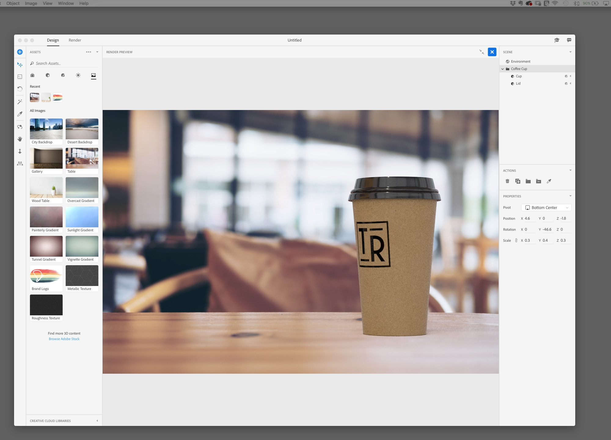 Adobe Dimension tutorial: Create 3D mockups of your designs