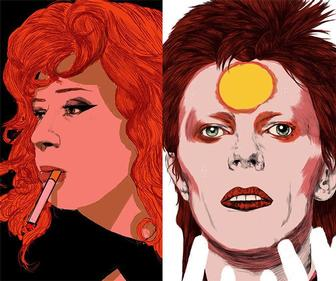 Artist Nicole Rifkin on creating captivating art featuring Bowie, Björk, Twin Peaks and Russian Doll