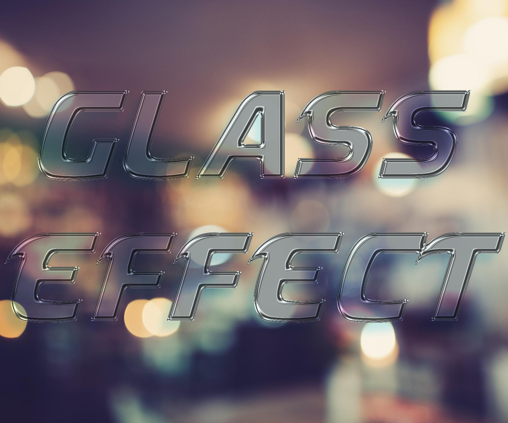 How to create a glass effect in Photoshop
