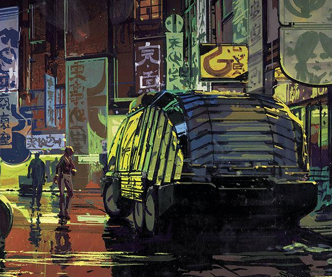 Owning Syd Mead's Blade Runner concept art isn't so out of this world