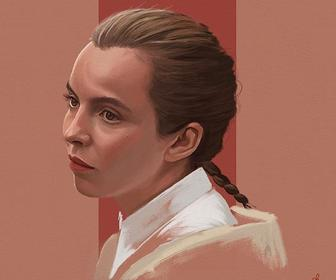 How to paint a portrait study